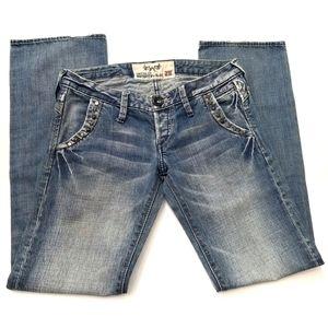 Denim - Wonderful Blue | Embellished Studded Jeans
